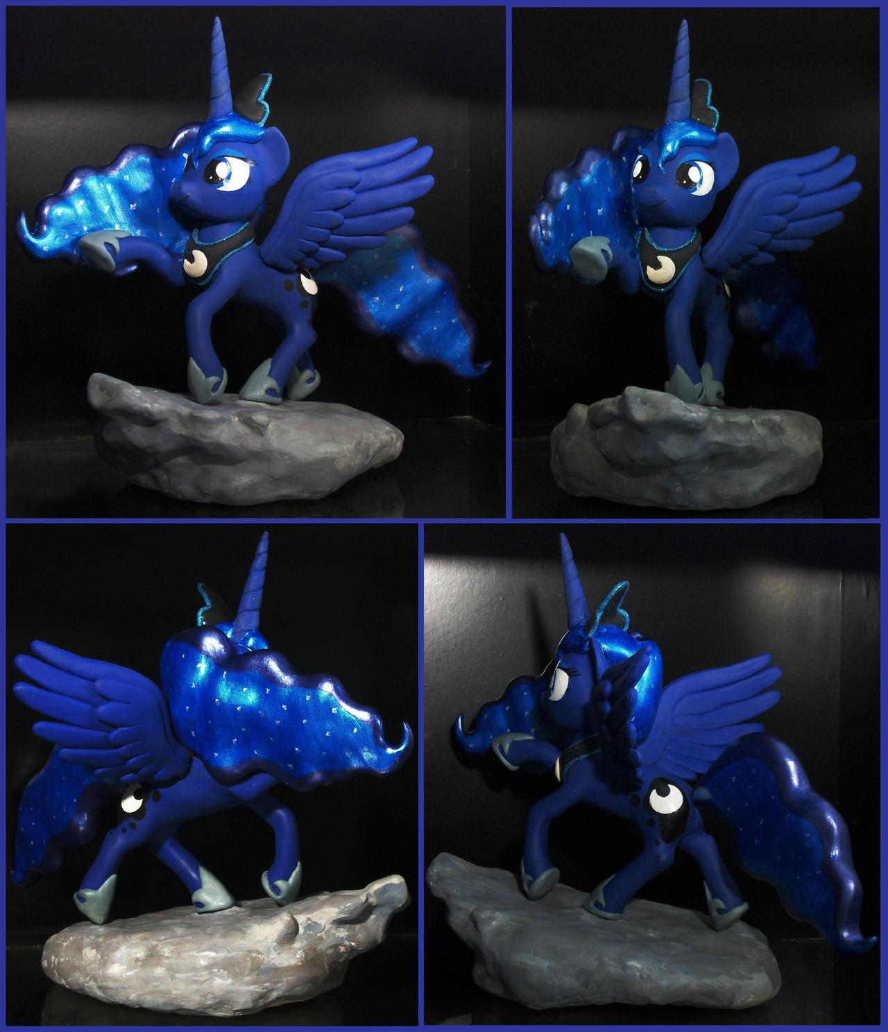 Princess Luna custom sculpture by MadPonyScientist
