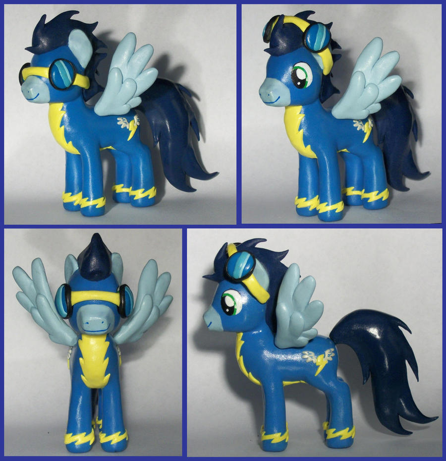 SOARIN with removable goggles sculpture commission by MadPonyScientist