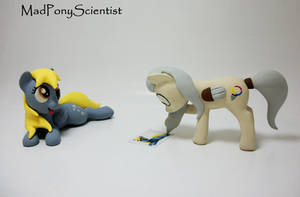 Derpy and OC Pony Palette sculpture commission