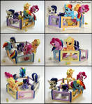 Mane 6 Baby Pony Playpen set