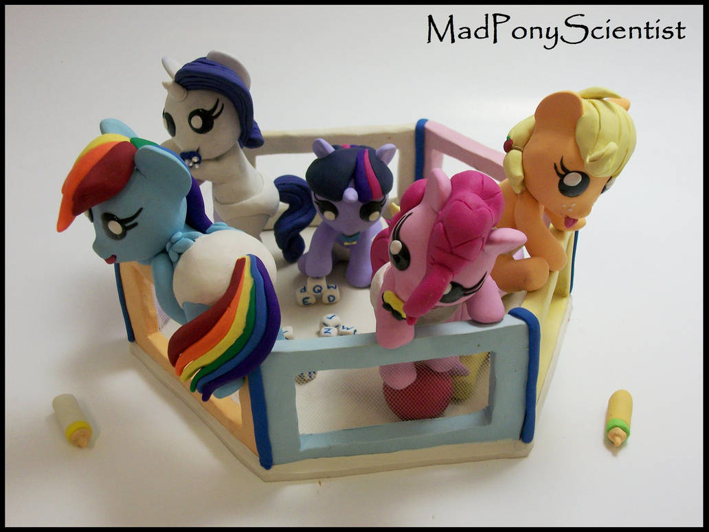 Mane 6 Baby Pony Playpen Set