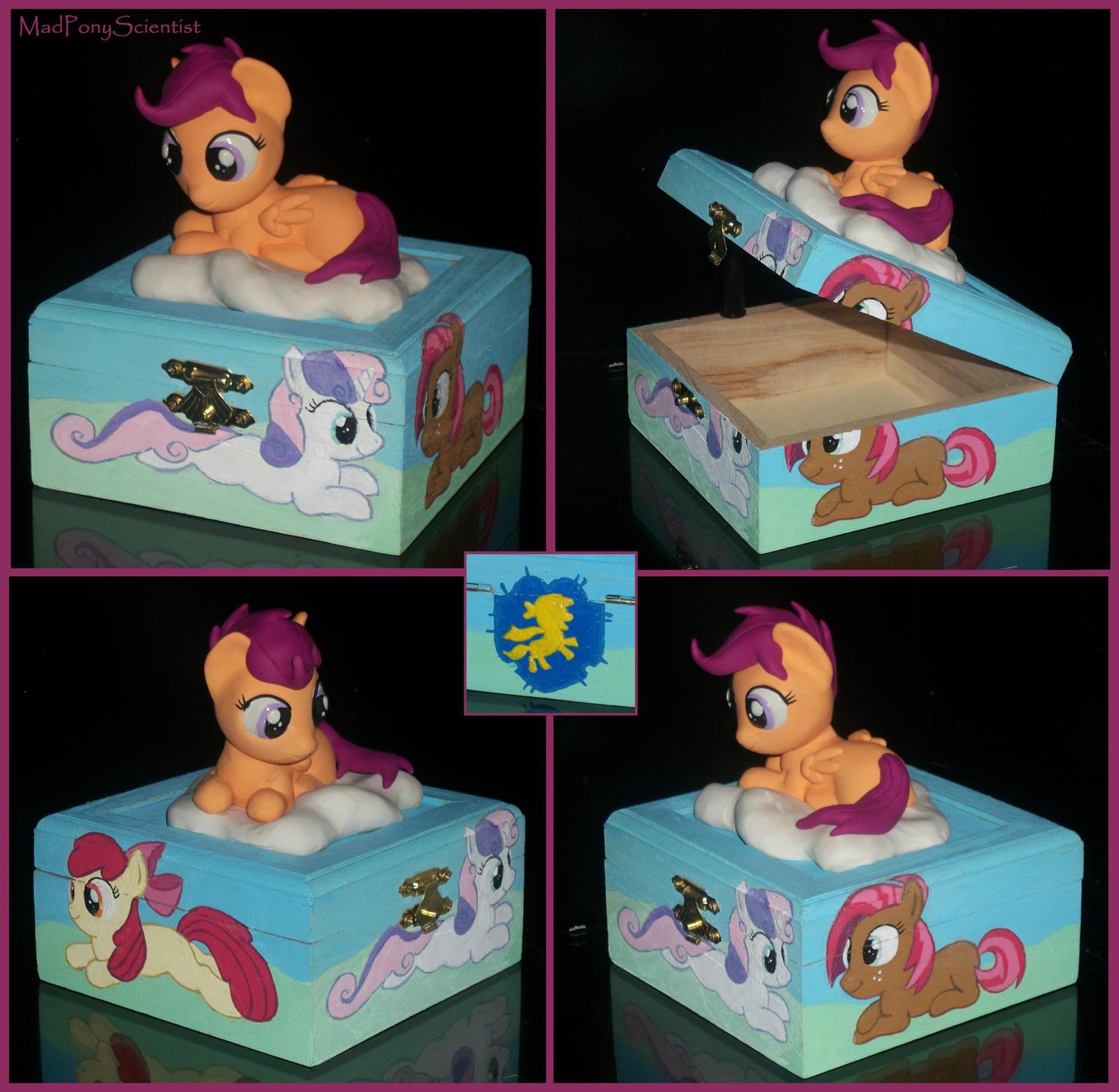 Cutie Mark Crusaders Keepsake Box - UPDATED by MadPonyScientist