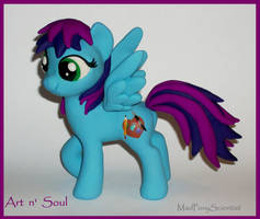 Art n' Soul  pony commission by MadPonyScientist