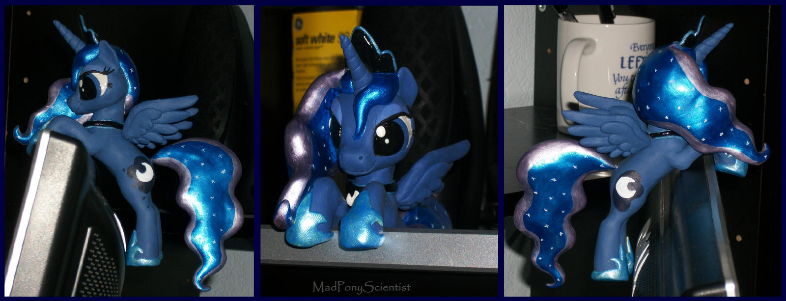 Princess Luna Monitor Hanger by MadPonyScientist