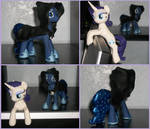 Rarity Monitor Buddy and Hooded Luna by MadPonyScientist