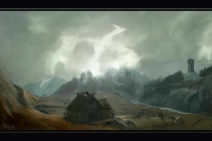 Skyrim: A Land of Dragons by nikolayhranov