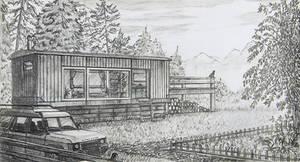 Forest Cabin Sketch