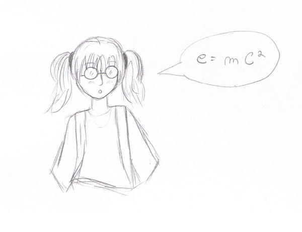 Cute Nerd Girl Drawing