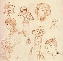Avatar doodles by palnk