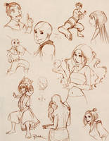 Avatar Sketches 3 by palnk