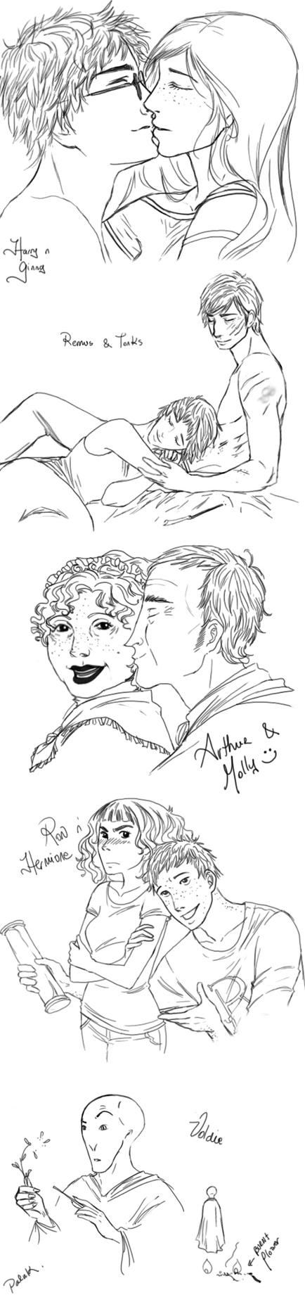 Potter couple sketches by palnk
