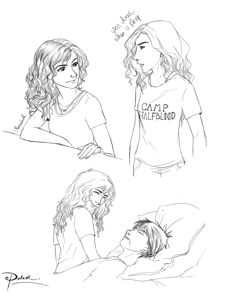 Annabeth Sketches by palnk on DeviantArt