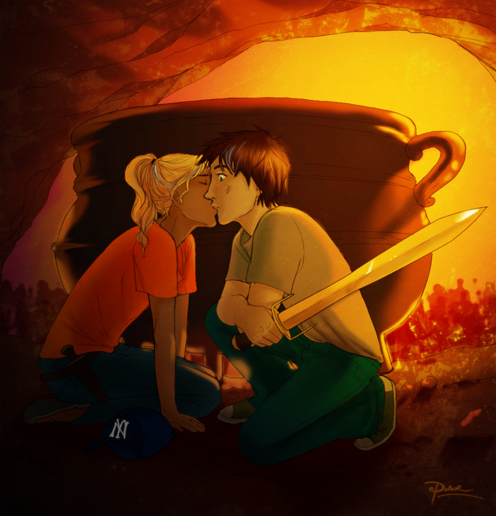 annabeth n percys 1st spoiler by palnk on deviantart