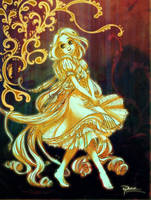 Glowing Rapunzel by palnk