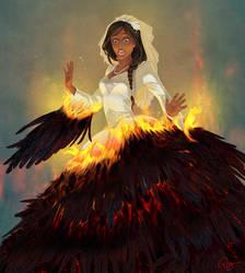 Katniss on fire by palnk