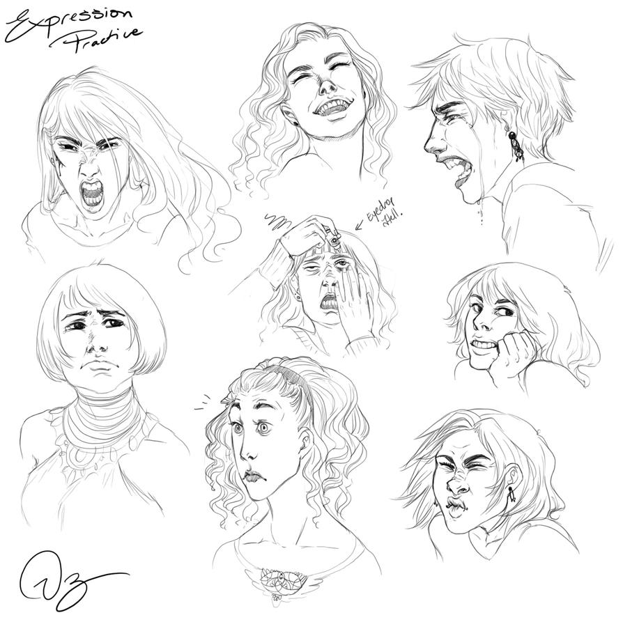 This is a photo of Zany Drawing Expressions Practice