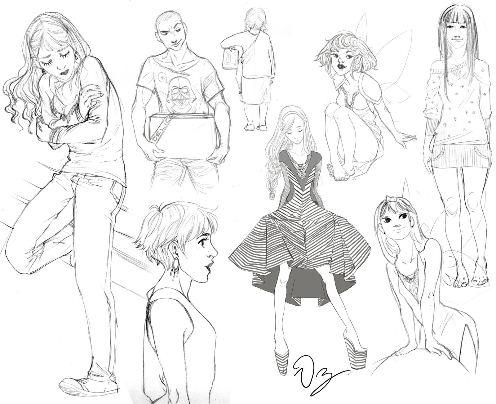Sketchiiie Sketches by palnk