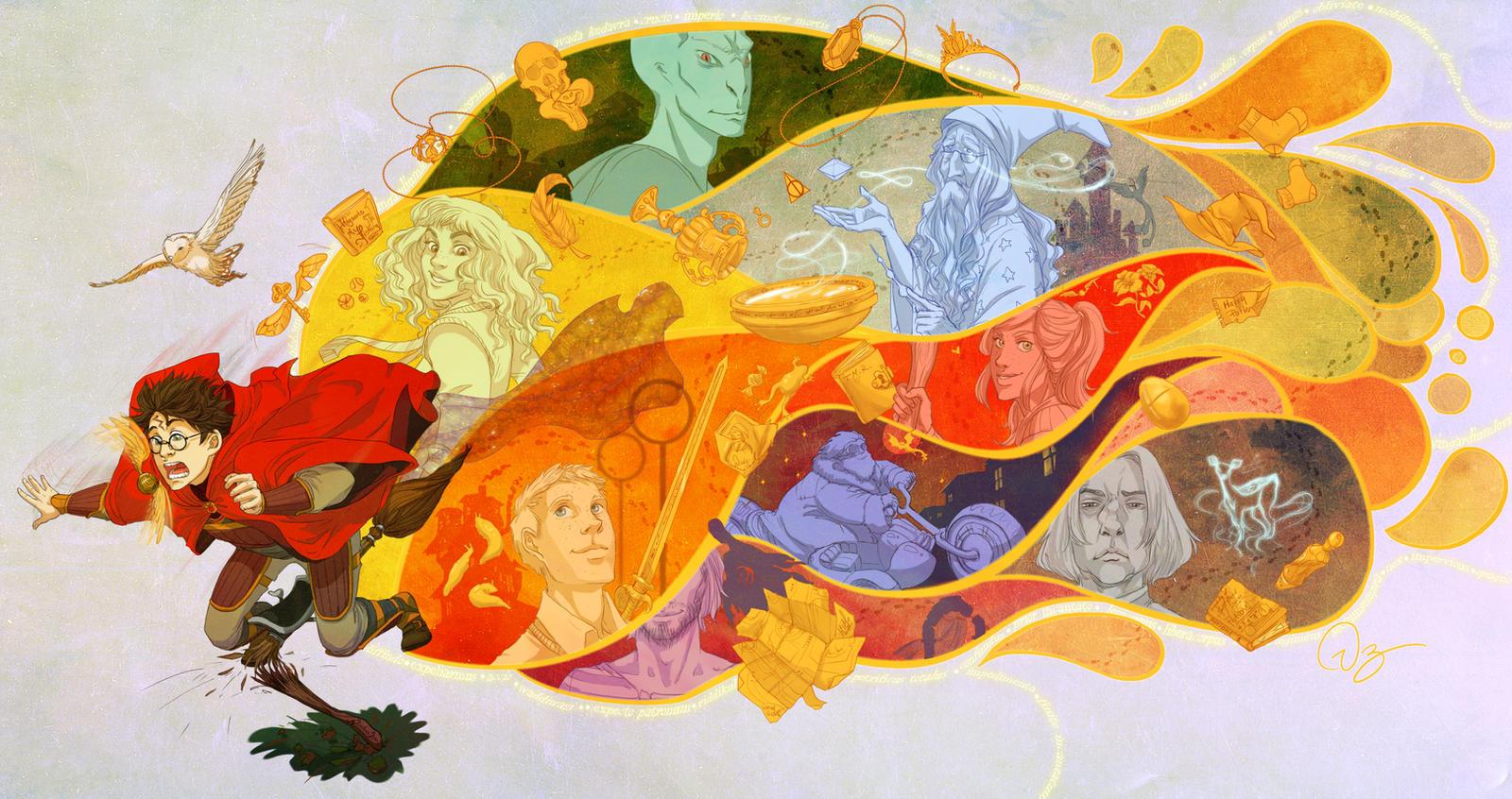 Good Wallpaper Harry Potter Fanart - harry_potter_years_by_palnk-d4yqvi6  HD_21393.jpg