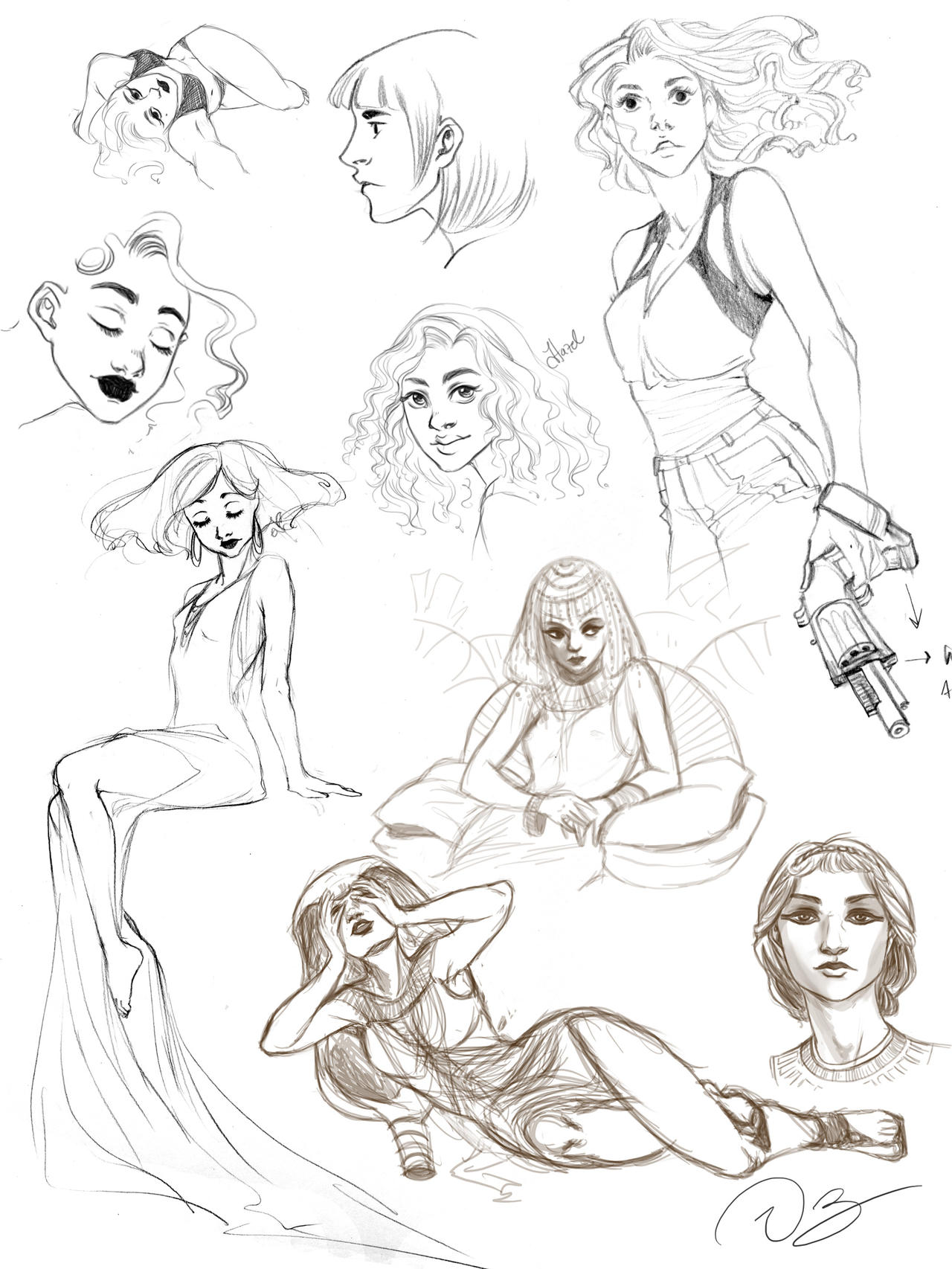Somegirls sketches by palnk