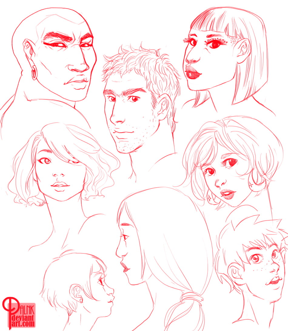 Red Faces by palnk