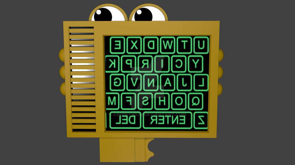 fnaf sl keypad with letters by crepet9000