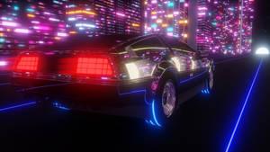 Delorean in the future 80s style(feedback pls)