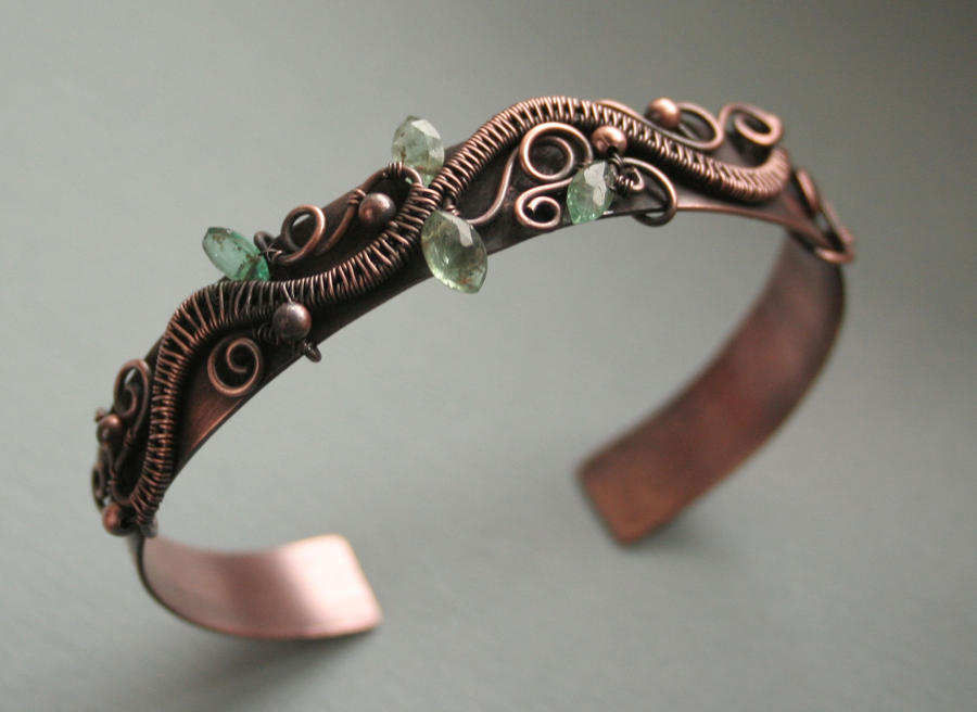 Copper Branch Cuff by Bodza