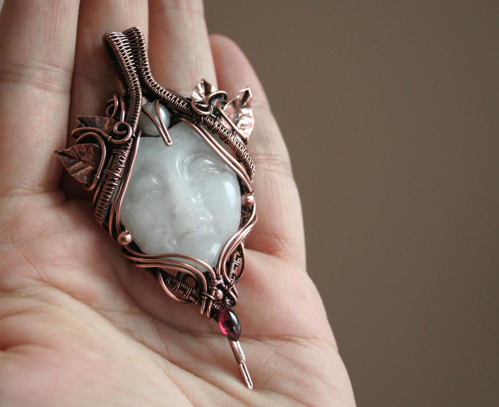 Moon Goddess Pendant by Bodza