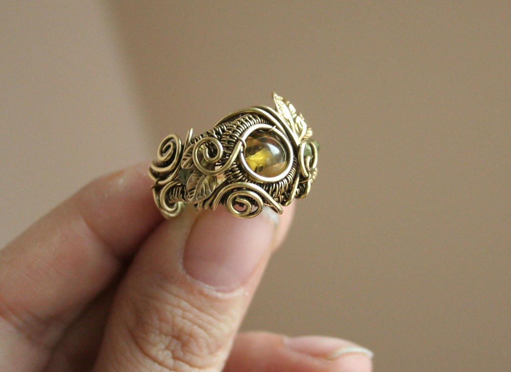 Golden Forest Ring by Bodza