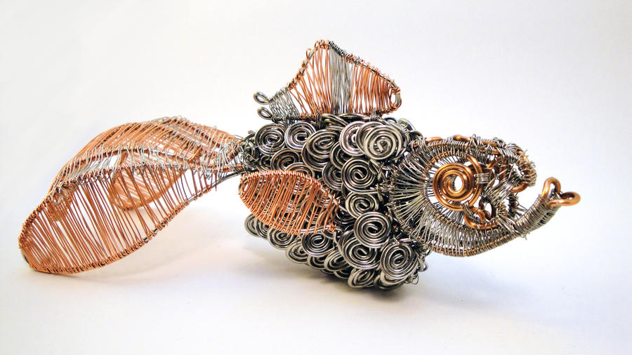 Wire Goldfish by bugsandbears