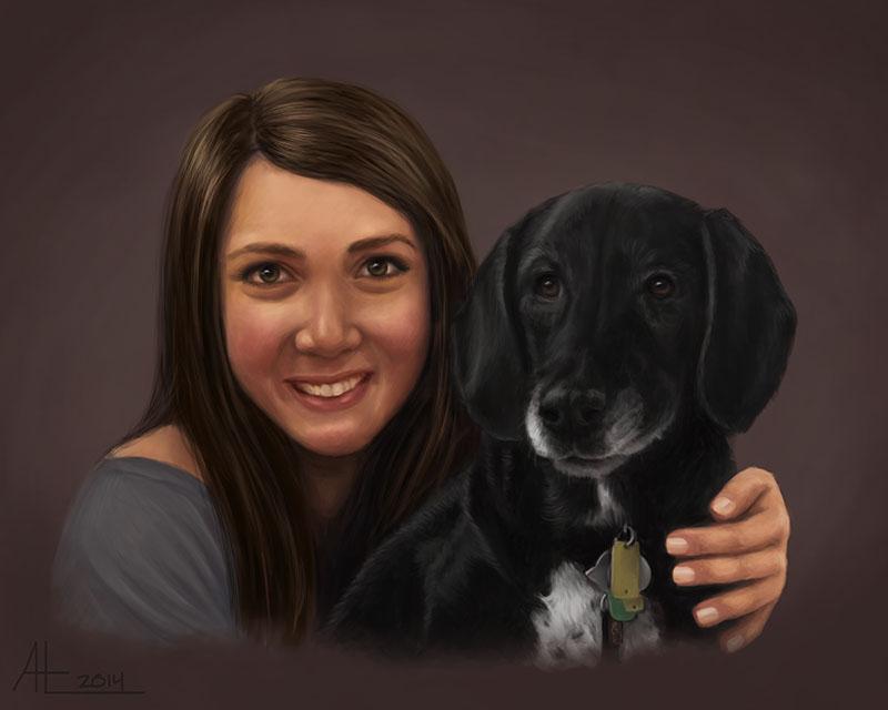 Woman And Dog by bugsandbears