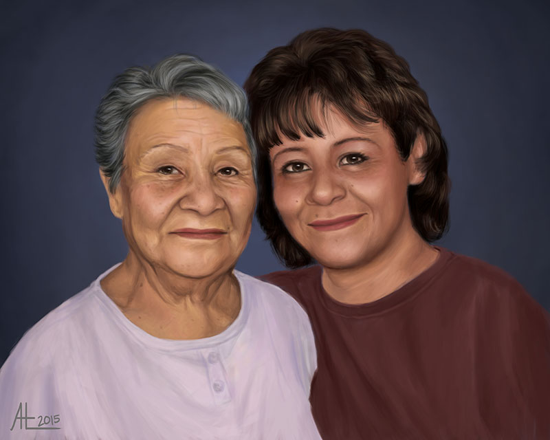 Mom And Grandma by bugsandbears