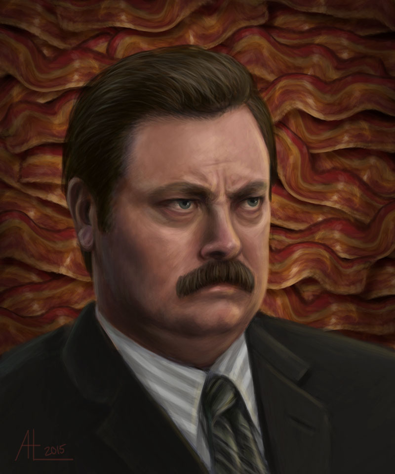 Ron Swanson by bugsandbears