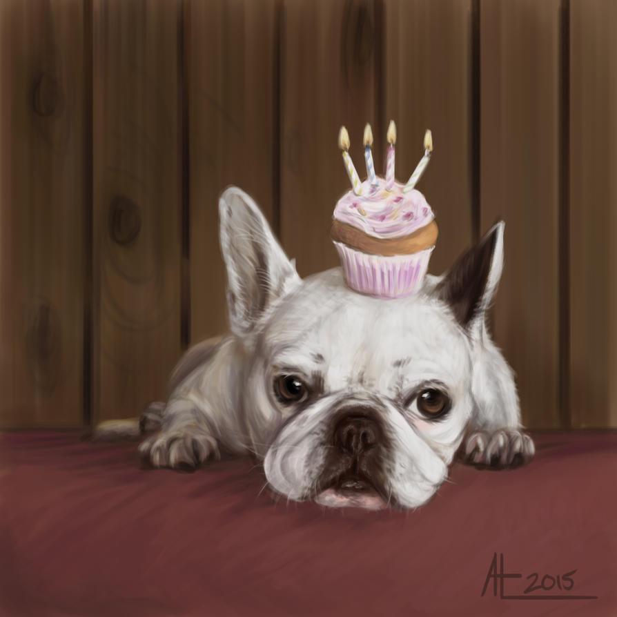 Cupcake Bulldog by bugsandbears