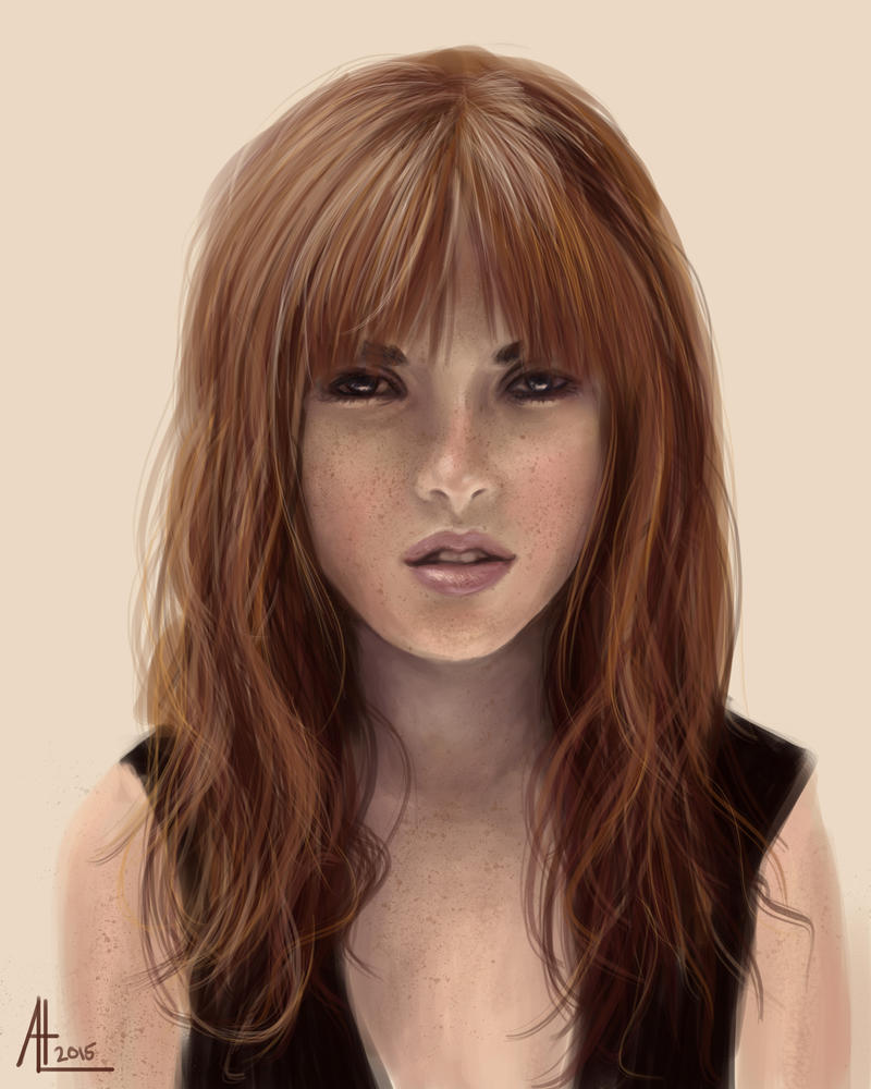Redhead Girl by bugsandbears