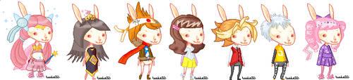 Easter Bunny Dolls by tenko72