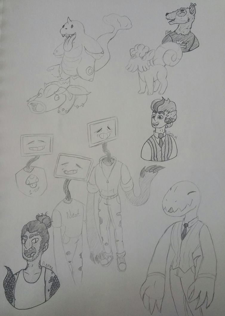 More Doodles by Skylord-Charizard