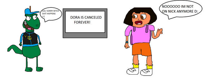 Dora crys over her canceled show
