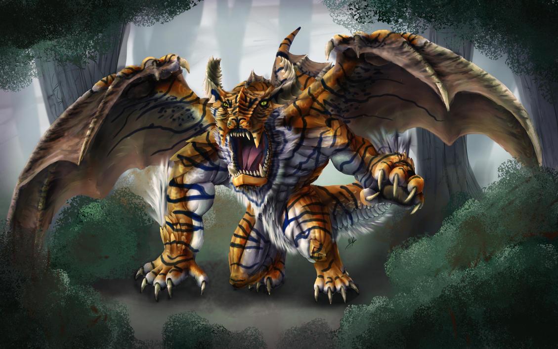 Tiger Dragon by Yggdrassal