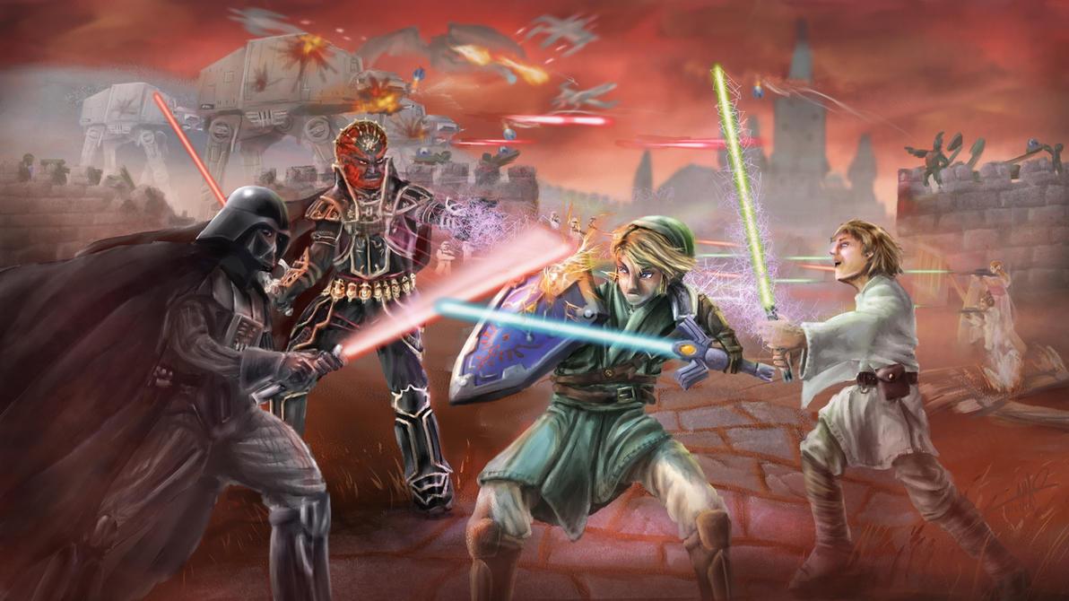 Zelda/Star Wars Crossover Battle by Yggdrassal
