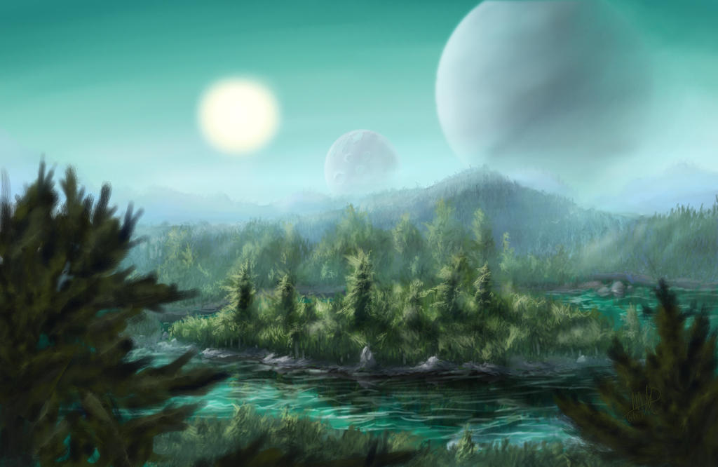 Alien Landscape by Yggdrassal