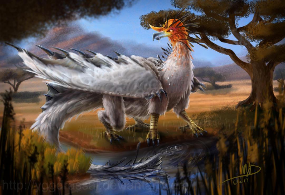 Bird Dragon by Yggdrassal