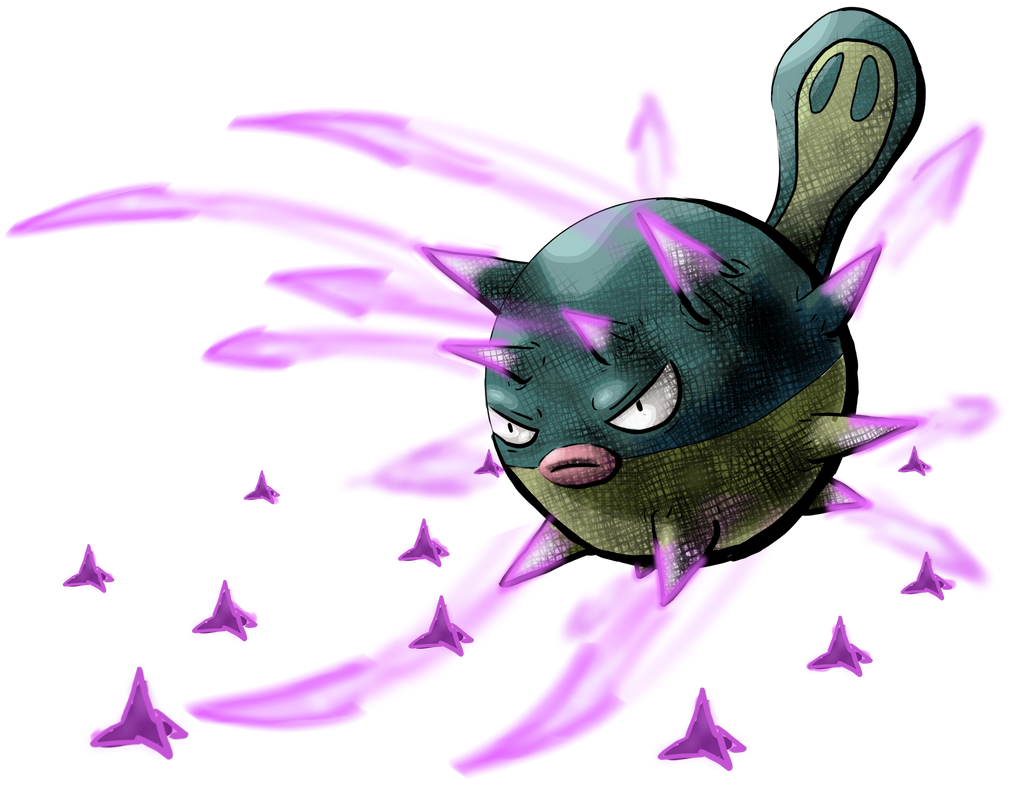Qwilfish Toxic Spikes by Yggdrassal