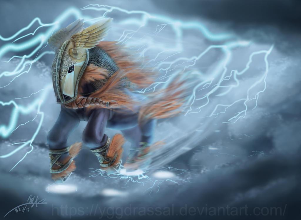 Thunder Horse by Yggdrassal