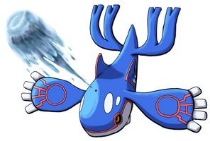Kyogre Water Spout by Yggdrassal