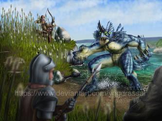 Lake Monster by Yggdrassal
