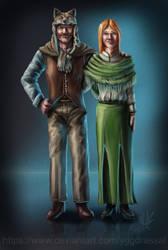 Payton and Caroline Black by Yggdrassal