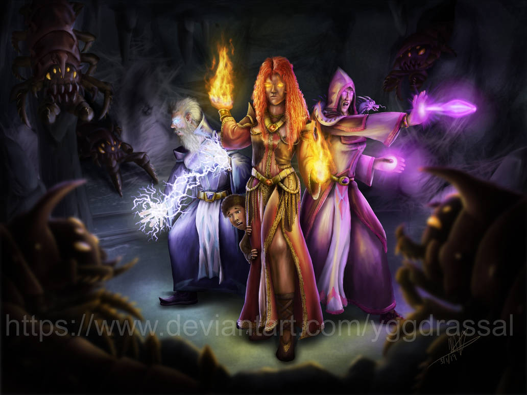 Three Mages by Yggdrassal