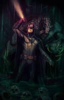 Batman In Darkness Dwells by botrocket