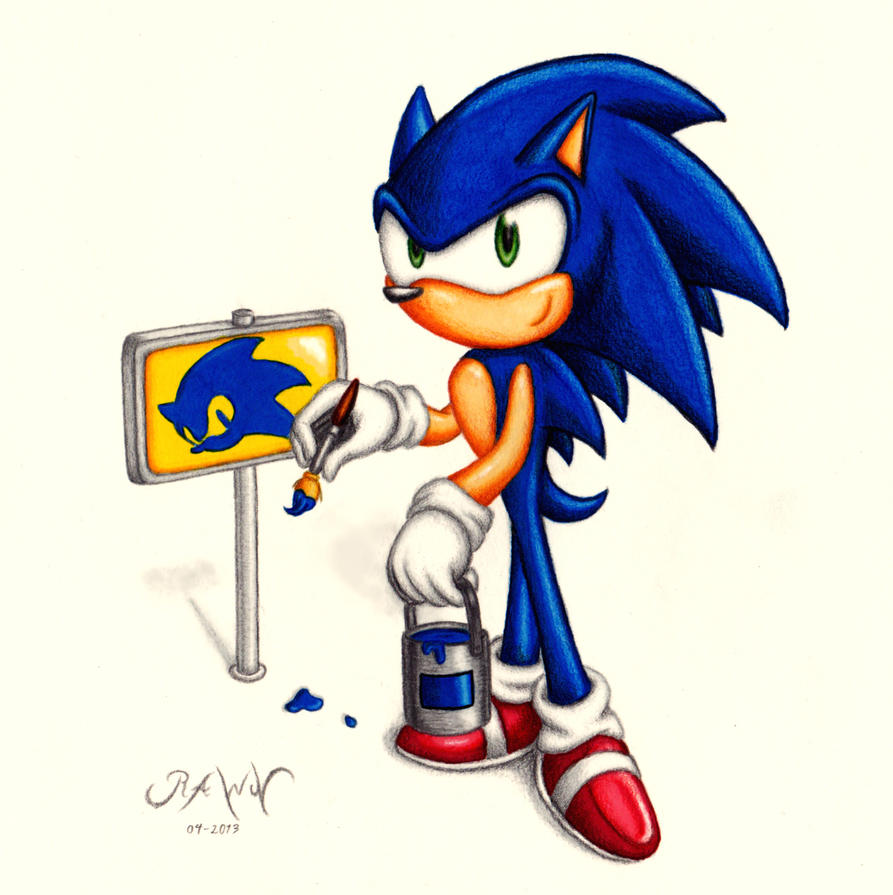Sonic: Painting signposts by RAWN89